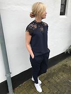 NEITH LACE JUMPSUIT navy