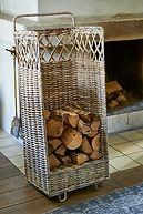 RUSTIC RATTAN WOOD COLLECTOR