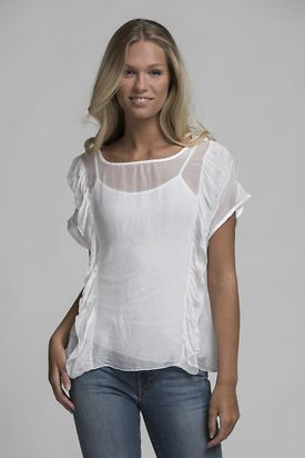 OUTLET RUFFLE TOP white