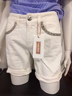 BRADFORD GLAM SHORTS white