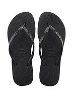 HAVAIANAS SLIM METAL MESH black / dark grey