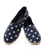 LEXINGTON ESPADRILLO navy star print