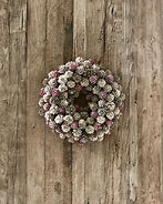 ROMANTIC WINTER WREATH 24CM