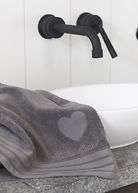HEART BATH TOWEL ANTHRACITE 70X140