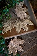 OAK RIDGE DECORATION LEAVES CHAMPAGNE