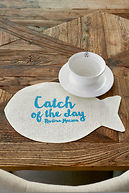 CATCH OF THE DAY PLACEMAT WHITE
