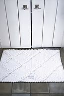 BATH MAT CHACK WHITE 80X50