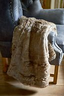 POLAR FAUX FUR THROW GREY 170X130