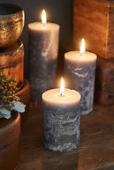 RUSTIC GREY CANDLE 7X10