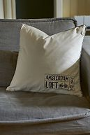AMSTERDAM LOFT VELVET PILLOW COVER CREAM 50X50