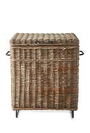 RUSTIC RATTAN LINCOLN TRUNK